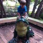 Jackson on the frog
