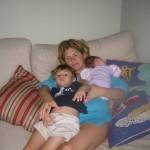 Rachel and kids
