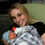 Sarah holding son Nolan November 2nd